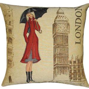 Coussin London by A. Laliberté -- 45x45cm-0