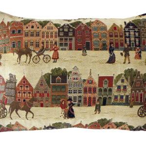 Coussin -- Bruges et ses caleches -- 25x45cm-0