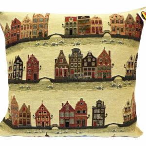 Coussin -- Canaux de Bruges -- 45x45cm-0