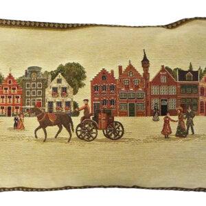 Coussin -- Caleches et Maisons de Bruges -- 35x45cm-0