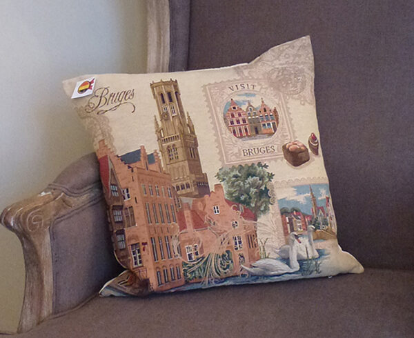 Coussin -- Beffroi de Bruges -- 45x45cm-10163