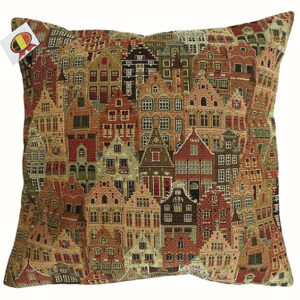 Cushion -- Houses of Bruges -- 35x35cm-0