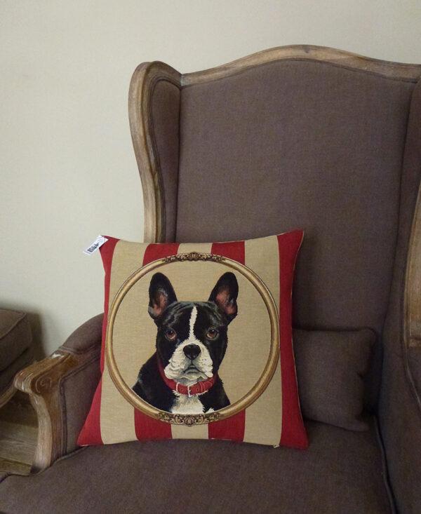 Coussin Chien Terrier de Boston -- 45x45cm-11416